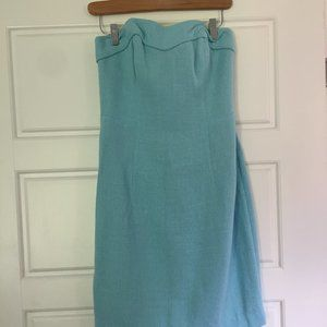 Lilly Pulitzer Strapless Blue Dress